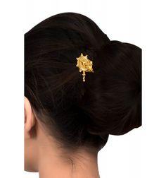 Silver Gold Plated Textured Rawa Round Juda pin