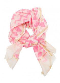 pink chevron scarf