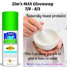 Zim's Max Giveaway ends 8/1 #ZimsMax @zimsusa