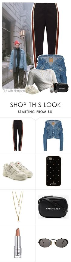 """Out with Namjoon"" by shefi-22 ❤ liked on Polyvore featuring Wales Bonner, Balenciaga, Reebok, Kate Spade, ASOS, e.l.f. and Jean-Paul Gaultier"