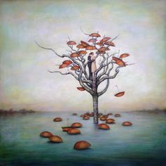 Vietnamese born artist Duy Huynh creates paintings that evoke introspection and a sense of wonderment. Huynh co-owns Lark & Key Gallery in Charlotte NC. Surrealism Painting, Second Chances, Unusual Art, Weird Art, Make Art, Limited Edition Prints, Branches, Appreciation, Gallery