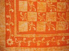 Patchwork Batik Tapestry Cotton Spread 106 x 72 Twin Orange * For more information, visit image link.