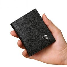 Price tracker and history of 2017 Men Brand Mini Luxury Genuine Leather Men  Small Wallet Short Slim Purse Card Holder Minimalist Designer Money Dollar  Clip 12503edf63