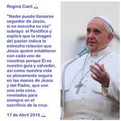 Regina Caeli  Papa Francisco Domingo 17 de Abril 2016 ☀️ https://instagram.com/p/BET7hAeCZ4v/