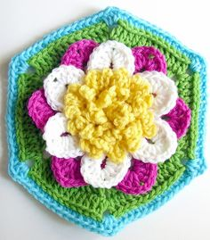 Water Lily Hexagon $5.28