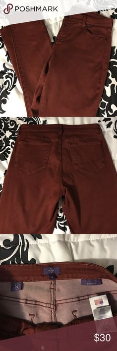 "NYDJ Burgundy leggings NYDJ Burgundy Leggings. More like pants than leggings. 29"" inseam. Never been worn. Super comfy. NYDJ Pants Leggings"