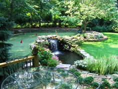 "Putting green, waterfall and patio - the perfect ""Gentleman's Corner of the estate..."