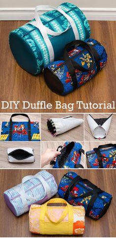Duffle Bag Patterns, Diy Bags Patterns, Purse Patterns, Pdf Sewing Patterns, Diy Sewing Projects, Sewing Tutorials, Sewing Crafts, Tote Bag Tutorials, Diy Bags Tutorial