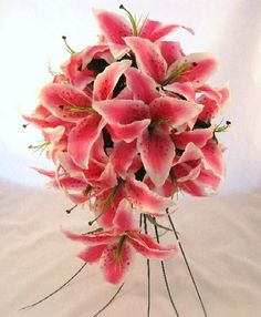 Stargazer lily bouquets