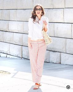 The best linen pants for spring!  These striped pants are so comfy and make the cutest spring outfit!