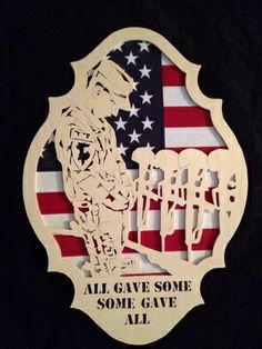 Scroll Saw Patterns :: Miscellaneous :: Military & Patriotic :: Soldier moment of silence plaque Wood Craft Patterns, Wood Carving Patterns, Scroll Saw Patterns Free, Scroll Pattern, Bitmap To Vector, Best Scroll Saw, Some Gave All, Woodworking Patterns, Woodworking Ideas