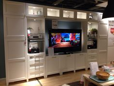 Ikea Hack Entertainment Center from Billy Bookcase | Domestic ...