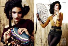 Far East Fashion Photography - Tara Emad Harper's Bazaar Arabia Takes on Oriental-Inspired Pieces (GALLERY)