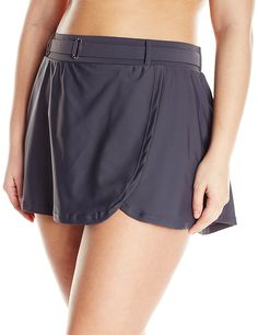 71024590ae Free Country Women s Plus-Size Skirted Bikini Bottom with Belt    Don t