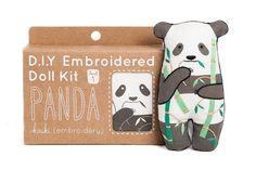 Panda Kit de bordado por kirikipress en Etsy