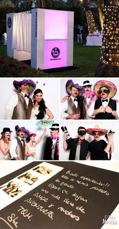 Cabina de fotos para los invitados de la boda                                                                                                                                                     Más
