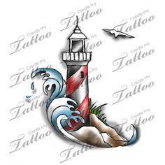 Marketplace Tattoo Lighthouse #20486   CreateMyTattoo.com                                                                                                                                                     More