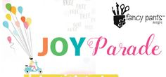 FANCY PANTS - JOY PARADE  Fancy Pants latest collection is a celebratory & colourful range with a fantastic assortment of embellishments to compliment it!  You can see the entire collection at Anna's Craft Cupboard now...