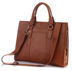 Brown Leather Briefcase for Women (Ships From Amazon)