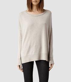 Womens Char Cashmere Sweater (Fawn)