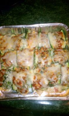 "Spinach & Mushroom Stuffed Zucchini ""Shells"": This is a take on a recipe I saw for those giant stuffed pasta shells that are so bad for us. I changed it a bit and made it low carb by stuffing zucchini ""shells"" instead of pasta."