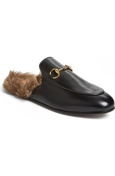 Gucci 'Princetown' Genuine Shearling Mule Loafer (Women) available at #Nordstrom
