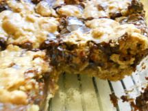 Deep Dish Oatmeal Fudge Bars- Feeding Mr.Picky  So chewy and fudgy, and a cinch to put together