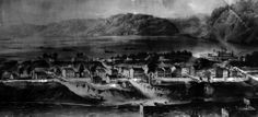 Cincinnati, in 1800, was growing to be important in the Northwest Territory, in part because of Fort Washington, to the rear on the right ne...