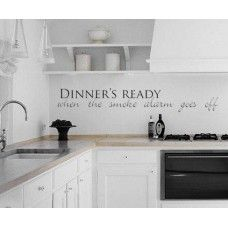 Dinners Ready Quote Wall Sticker Decorative Wall Art