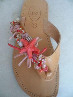 Elli's Shoes & Sandals: pink salmon starfish
