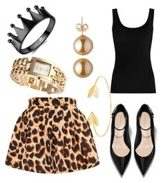 """""""Black and golden"""" by tiffany-duque on Polyvore featuring Lord & Taylor and Twenty"""