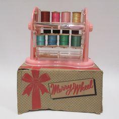 Vintage Merry Wheel Spool Holder Ferris Wheel  Westcraft  Sewing Collectible Original Box