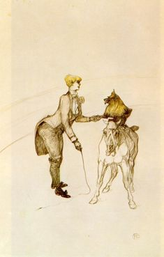 At the Circus The Animal Trainer - Henri de Toulouse-Lautrec