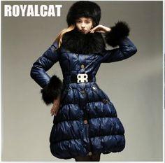 Royal Cat синий пуховик клёш