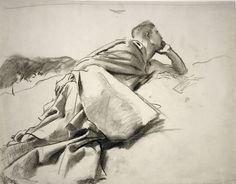 "John Singer Sargent, Study for ""David in the Wilderness"", 1895-1900 | Harvard Art Museums/ Fogg Museum"