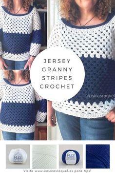 Jersey Granny Stripe Fácil y Rápido cosicasraquel