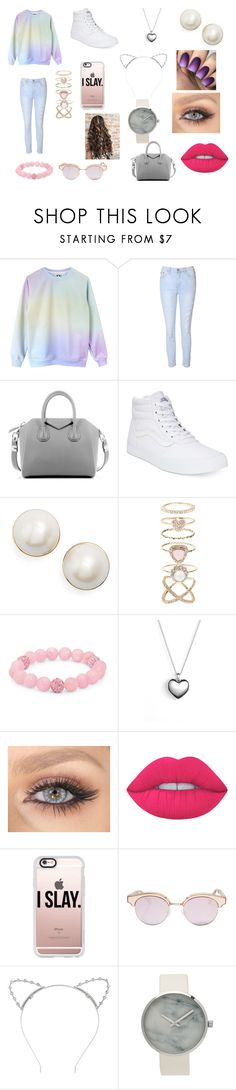 """Senza titolo #81"" by denise-ricchiarid ❤ liked on Polyvore featuring Glamorous, Givenchy, Vans, Kate Spade, Accessorize, Palm Beach Jewelry, Pandora, Lime Crime, Casetify and Le Specs"