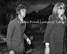 17th October 1967 - John and Cynthia arriving at the New London Synagogue in Abbey Road for Brian Epstein's memorial service.