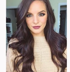 Black Coffee Hair With Ombre Highlights - 10 Cool Ideas of Coffee Brown Hair Color - The Trending Hairstyle Cherry Brown Hair, Cherry Hair Colors, Brown Hair Colors, Hair Colour, Lip Colors, Espresso Hair Color, Chocolate Brown Hair Color, Chocolate Hair, Chocolate Coffee