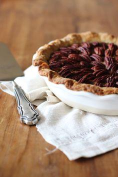 Chocolate Pecan Pie with Bourbon Maple Whip Cream // HonestlyYUM