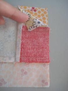 Beginner Log Cabin Block - Quilting Tutorial from ConnectingThreads.com
