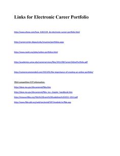 Create a Career Portfolio | Career