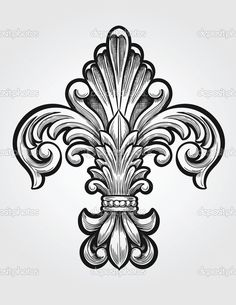 elegancki fleur de lis wektor - Ilustracja stockowa: 28960273