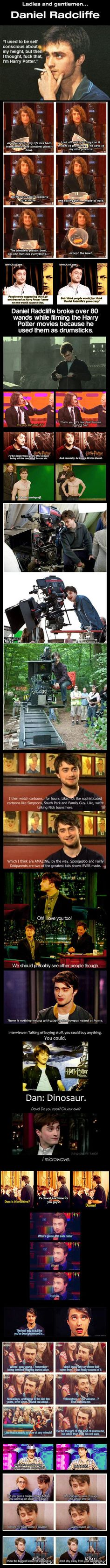 So happy that Harry Potter turned out this way. Oh, Daniel Radcliffe. I meant Daniel Radcliffe. Daniel Radcliffe, Harry Potter Love, Harry Potter Fandom, Harry Potter Memes, Harry Potter Francais, Movies Quotes, Funny Quotes, Funny Memes, Funny