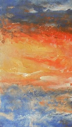 Abstract Sunset 2 by Jane See