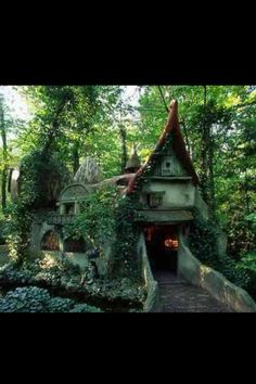 Gnome house in a Dutch fairytale themepark called The Efteling.