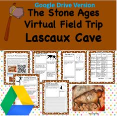 Digital Version- Virtual Field Trip to Lascaux Cave- Stone Ages- Student Activities Virtual Field Trips, Stone Age, Cave, History Activities, Cool Gear, World History, Digital, History, Caves