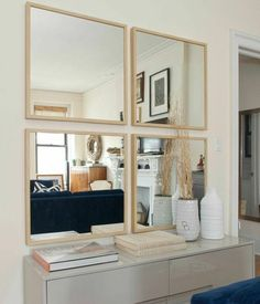 FRAME Lots (or other ikea mirror) --- maybe even stick them on a piece of MDF and frame that? Uniquely-Shaped Mirror Décor For Your Condo Interior Design Ikea Nissedal, Apartment Therapy, Condo Interior Design, Ikea Mirror, Vanity Mirrors, Mirror Mirror, Faux Window, Three Bedroom House, Upper West Side