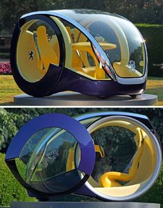 We've seen at least one excitingly futuristic (if not entirely official) Peugeot concept before, but this one may be even more far-reaching. The Moovie was the winning entry in a design competition held by the car company for cars they might produce in the year 2020. Portuguese designer Andre Costa came up with the Moovie, an agile electric car with styling so futuristic it's almost alien. A non-working prototype was built for the 2005 Frankfurt Auto Show, but so far there aren't any plans…