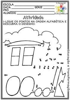 Atividades Escolares: Ordem alfabética Diagram, Math Equations, Words, Literacy Activities, Kids Learning Activities, Classroom, Autism, Places, Horse